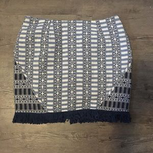 2 for $10✨Mink pink printed skirt with fringe